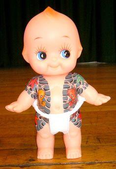 "Tattooed ""Yakuza"" Kewpie Doll"