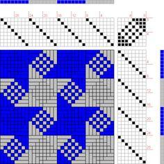 draft image: Twill Stars 8, Handweaving.net Visitors, 8S, 8T