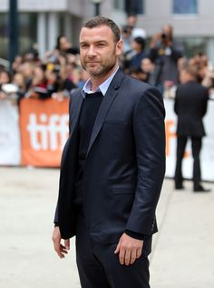 Liev Schreiber sported his signature beard at the Toronto International Film Festival.