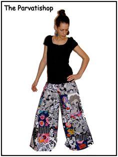 Pantalon patchwork pattes d'eph, bohemian, gypsi, boheme, hippie, hippy