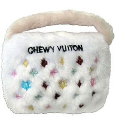 Luxury Designer Dog Toys Chewy Vuiton White Squeaky Pet Toys