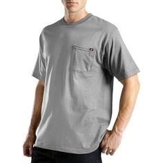 Dickies Big & Tall Short Sleeve Performance Wicking Pocket T-Shirt- Gray Xxxl Tall