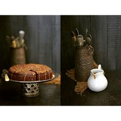 Almost Flourless Bittersweet Chocolate Cake with salted butter caramel ... a weekend bake shot with one of my most treasured copper kitchen collectibles, a hand crafted spoon stand from India.  #WHPartifacts #baking #chocolate #vintage #foodandvintage #pab #Indianheritage #artifacts #history #photography