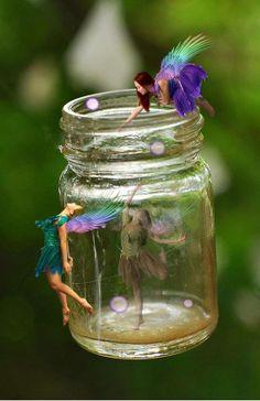 Fairies on a jar.
