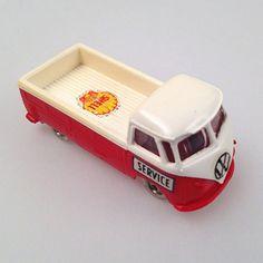 Vintage SHELL SERVICE LEGO VW Van / Bus Scale 1/87 H0 Model in Spielzeug, LEGO | www.cyan74.com