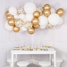 LYVEEF Confetti Balloons Party Balloons Latex Balloons Birthday Balloons Baby Shower Balloons Wedding Balloons for More Parties 50 Pcs Pack-White, Gold, Golden Confettii Balloons with Ribbon Glitter Ballons, Gold Confetti Balloons, White Balloons, Latex Balloons, Metallic Balloons, Glitter Glue, Helium Balloons, Gold Glitter, White Party Decorations