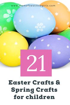 21 Easy Easter crafts and spring crafts for kids to make at home this Easter. If you're looking for Easter recipes to bake with the kids, or a fun spring craft, this list of 21 Easy easter and spring crafts for kids will keep you busy this half term. Spring Crafts For Kids, Egg Crafts, Crafts For Kids To Make, Easter Crafts For Kids, Wood Crafts, Easter Tree, Easter Wreaths, Easter Eggs, Violin Lessons