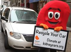 Recycling your car helps the National Kidney Foundation save lives  --  'NKF-MD will pick up used cars, trucks, motorcycles or boats - in almost any condition - free of charge.'
