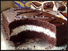 Torta Kinder Bueno - Le Mille e una Torta di Dany e Lory Fudge Cake, Torte Cake, Cake & Co, Food Cakes, Sweets Recipes, Cake Recipes, Fiesta Cake, Cooking Cake, Plum Cake