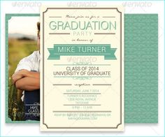 25 Graduation Party Invitation PSD For The Class of 2015