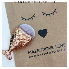 Złota Rybka - pędzelek do makijażu  #makeupovelove #makeupbrushes #mermaid #syrenka #pędzelki