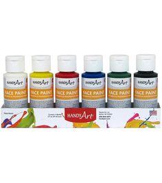 Buy Rock Paint-Handy Art Handy Art Washable - Face Paint Kit Bottles, 2 oz - Set of 6 at UnbeatableSale Art Supply Stores, Acrylic Paint Set, Face Painting Designs, Bottle Painting, Painting Art, Arts And Crafts Supplies, Art Supplies, Face Art, Face And Body