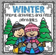 Winter theme activities and printables for Preschool and Kindergarten