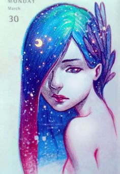 """qinni: """"More daily sketches. done in pencil and coloured pencils. Done on x 4 inch moleskine planner. Illustrations, Illustration Art, Qinni, Character Art, Character Design, Love Art, Cool Drawings, Painting & Drawing, Gouache Painting"""