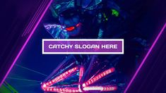 animation catchy title glowing glow neon colors