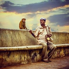 Madari and his friend chilling at Marine Drive.  #marinedrive #streetsofindia #everydayinmumbai #mymumbai #nashikgram #aamchimumbai #mumbaimerijaan #bombay #incredibleindia #indiapictures #wondorful #sunday #asia #mumbaigram #mumbaikar #photography #india #photooftheday #mumbaikar #likeforlike #followme #mumbai