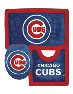 Chicago Cubs 3 Piece Bath Rugs
