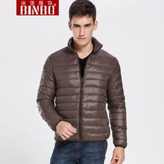 Otoño binbo chaqueta de algodón acolchado hombres chaqueta delgada delgada wadded prendas de vestir exteriores