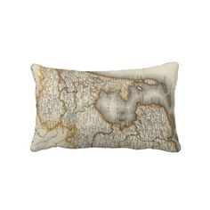 Vintage Map of Holland (1817) Throw Pillow from Zazzle.com $52.00