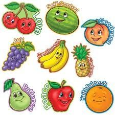 Fruits of the Spirit: Love, self control, goodness, joy, gentleness, kindness…