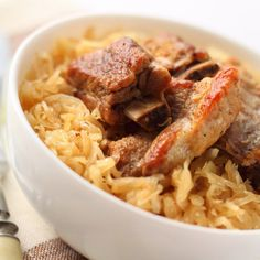 Spareribs and Sauerkraut