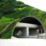 Vertical garden on an highway overpass designed by Blanc - Pont Max Juvénal, Aix-en-Provence, France.