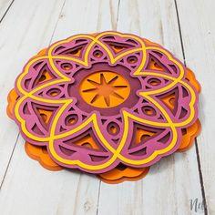Cricut Mat, Cricut Cards, Foam Crafts, Paper Crafts, 3d Cuts, Cricut Svg Files Free, Seashell Crafts, Mandala Coloring, Layers Design