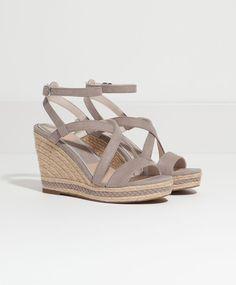 Sandales compensées lanières croisées - Chaussures.