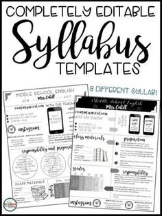 Syllabus Editable Syllabus Infographic Back to School Forms Open House Forms Meet the Teacher Forms***********************************************This resource is part of a BUNDLE with my Editable Meet the Teacher Templates. Middle School Syllabus, Maths Syllabus, Middle School Science, Syllabus Ideas, High School Organization, Classroom Organization, Classroom Management, Behavior Management, Middle School Classroom
