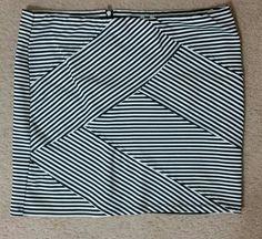 Bandage b&w striped Xhileration skirt. Size xl. $15 shipped.