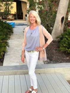 Love this look with cabi's Lucy Cardigan, Mist Top, and High Straight from the Spring 18 collection. Shop 24/7 at my online boutique: www.sueschuetter.cabionline.com.