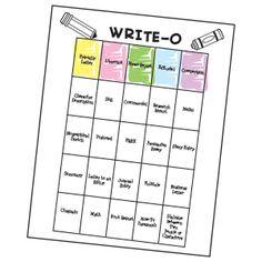 Fun creative writing games