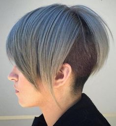 short-to-medium pastel blue undercut hairstyle
