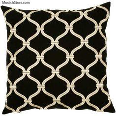 surya black white link pillow - Black And White Decorative Pillows