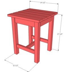 want to make this! DIY Furniture Plan from Ana- Free easy step by step plans to make a do it yourself Adirondack side table or Adirondack stool.