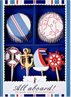 Meri Meri's All Aboard nautical cupcake kit, $12