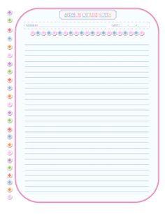 rainbow sermon notes pink blue blue fill