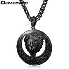 Buy Davieslee Men's Jewelry Lion Head Knot Gold/Silver Stainless Steel Pendant Necklace Chain at Wish - Shopping Made Fun Lion Necklace, Necklace Chain, Pendant Necklace, Necklaces, Japanese Jewelry, 316l Stainless Steel, Men's Jewelry, Celtic, Knots
