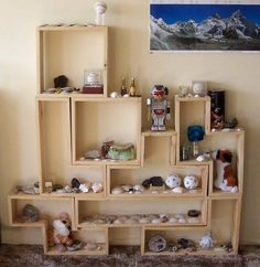 Tetris Bookshelves Are Nice Anyway You Stack Them - Neatorama ::xLaurieClarkex-- THANK YOU! This would be an inexpensive and AWESOME display area for my daughter's lego creations!!