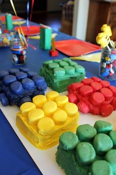 Lego Birthday Party... Bc my husband was a Lego nerd who will probably make one of children the same way