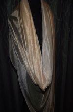 Hand Painted Silk Scarf ~ BEIGE/TLT232           $35