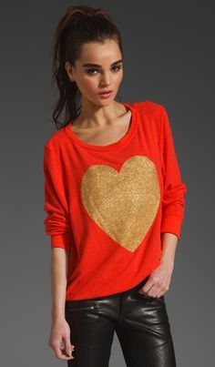 Gold Sparkle Heart | Wildfox Couture | Women's Fashion