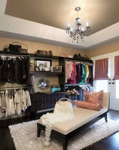 Spare bedroom makes an awesome extra closet!