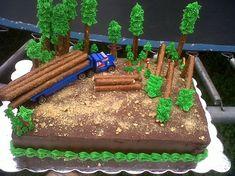 log hauling truck driving cake with pretzel trees Truck Birthday Cakes, Truck Cakes, Boy Birthday, Birthday Sayings, Birthday Images, Happy Birthday, Birthday Gag Gifts, Birthday Greetings, Birthday Wishes