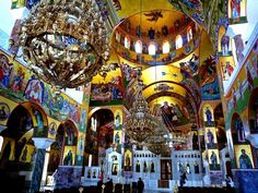 St. Gerasimos Greek Orthodox Church in Kefalonia Island, Ionian Sea, Greece