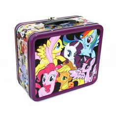 Is there a Brony in your life? I'm certain that they would be proud to fill this lunch box with their lunch and proudly display their love of My Little Pony! Brightly colored embossed with images of s