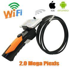 Handheld Wifi Endoscope Camera Wireless Snake Car Inspection Borescope Camera 2.0 Mega Pixels IOS Android Phone Endoskop