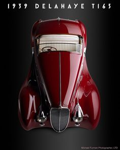 Emile Delahaye began production of these curvaceous works of art in 1894 in Tours France This is a 1939 T165. Even now I can hear the low purr of the straight 6. All 3227 cc's.