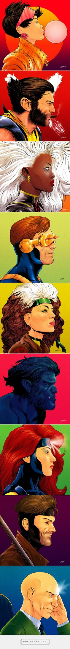 X-Men Portrait Project Love that the artist gave Rogue freckles -- don't see that too much, but it suits her.