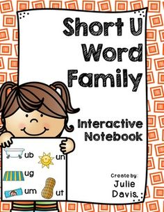 This is a Word Family Interactive Notebook to help students practice and learn CVC words and word families. There are 22 different activities for each Short U word family to help your students master the word family. You may choose which activities are best for your students. The activities include: - Sort by word family - Word Family Word Search - ABC Order - Roll, Write, Graph - Spin, Write, Graph - Real & Not Real Pockets - Building Words - Highlight then Trace - Color the Pictures
